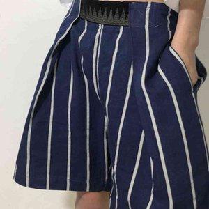 Kapital man Hirata hoshiro 21ss Velcro stripe casual pants linen shortsYLR
