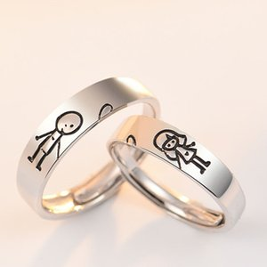 S925 Sterling Silver Couple Ring Simple Design for Men and Women
