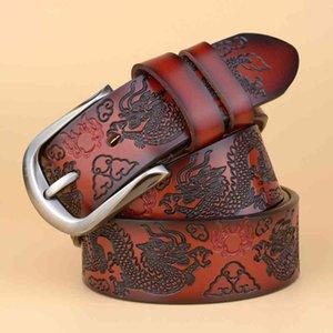 70% OFF Cinto Vintage Dragon Belt,Mens Luxury Real Leather For Men,Hot Leisure Designer High Quality Buckle Men's Belts