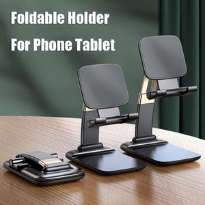 Universal Adjustable Phone Holder Stand for IPhone 11 12 Pro Max Samsung Note 20 Ultra IPad Tablet Foldable Metal Holder Desk Stand MQ50