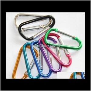 Carabiners Carabiner Ring Keyrings Key Chains Outdoor Sport Camp Snap Clip Hook Keychain Aluminum Convenient Hiking Camping Customized Rnxyo