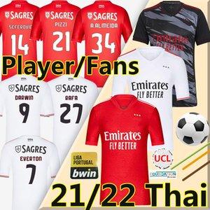 21 22 Fans Player Version Soccer Jerseys PIZZI RAFA SEFEROVIC WALDSCHMIDT DARWIN Camisola de futebol JOAO FELIX VINICIUS men kids kit 2021 2022 football shirt