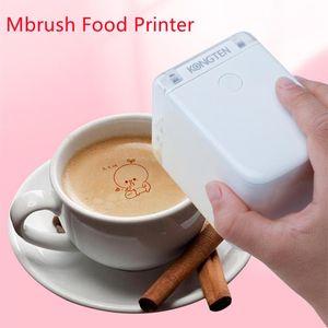 Printers MBrush Food Printer Coffee Print Portable Inkjet Handheld Edible In Bread Cake Mold Latte Baking#R30