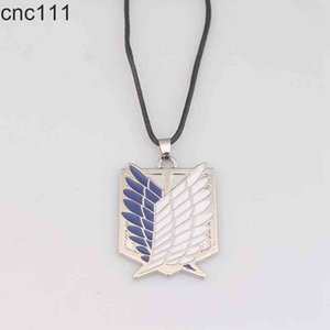 20Pcs Lot Attack On Titan Necklaces Wings of Liberty Scouting Legion Cosplay Eren Pendant Necklace for Women Men Jewelry Gift
