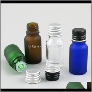Storage Jars 10 X 10Ml Essential Oil Portable Green Clea Rbrown Blue Glass Bottles Cap For Liquid Reagent Pipette Bottle With Lock Mkk Hvnaf