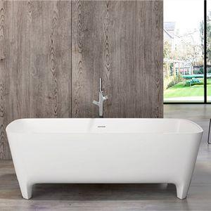 high quality Bathtubs Modern Environmental Protection Acrylic, Bath, Classic Oval, European Retro Integrated Bathtub of Matte or Light