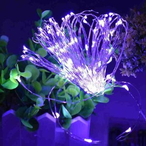 LED Fairy String Light Waterproof 3M 10FT Sliver Copper Wire 30 LED Battery Operated for Christmas Holiday Wedding Party