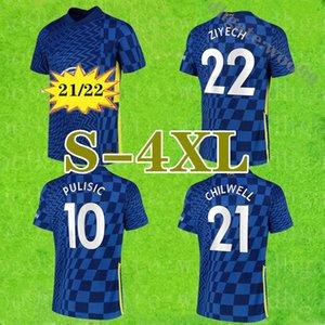 Grande misura: XXXXL 2021 Pulisic Kante Soccer Jerseys 21 22 Abraham Mount Lampard Camiseta de Camicchia da calcio