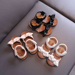 summer bow girls sandals princess shoes non-slip soft soled for kids 210515