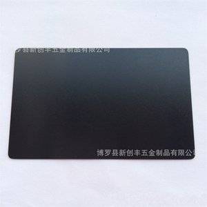 100 Pcs Pack 5 Colors Black Silver Yellow Blue Aluminum Alloy Card Laser Engraved Metal Business Visiting Name Cards Blanks 691 S2