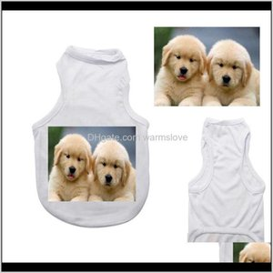 Apparel Supplies Home & Garden Drop Delivery 2021 50Pcs Sublimation Blank White Clothing Diy Dog T Shirt For Small Pet Heat Transfer Print Ne