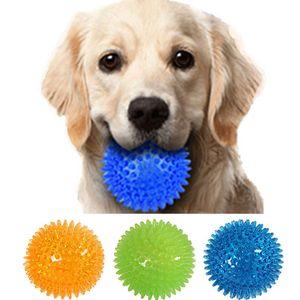 Large voice toy Dog Toys ball prick massage stretch balls TPR pet amazon Cut style CE ROHS