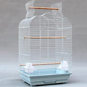 Bird Cages Luxury Large Cage Stainless Steel Parrot Outdoor Rectangle Metal Supplies Gabbia Per Uccelli Carrier DL60NL