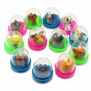 32MM Transparent Capsule Egg Dolls Small Cartoon Animals Fish Pig Duck ModleToys Gifts For Vending Machine