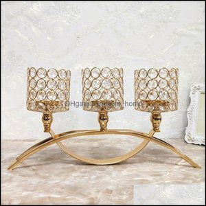 Décor Home & Gardeneuropean Three-Headed Arch Bridge Candlestick Romantic Candlelight Dinner Decoration Exquisite Gifts Candle Holders Drop