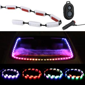 Auto Atmosphere Lamps Sound Music Control Decorative Warning Light Car RGB LED Strip Interior Lights Interior&External