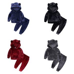 Baby Boy Clothes winter Gold velvet Boy Clothing Set Long sleeves Leisure boys t shirt+ Pant 2pcs Kids Tracksuit 552 Y2