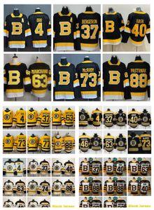 2021 Boston Bruins Magliette da hockey Mens Brad Marchand Jersey Patrice Bergeron David Pastrnak Charlie McAvoy Kevan Miller Tukka Rask Brandon Carlo cucito