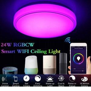 Ceiling Lights LED Modern Lighting Fixture Surface Mounted AC85-265V Remote Control Lamp Living Room Bedroom Kitchen