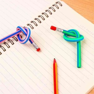 Magic Soft Pencil Random Deformation Bendy Flexible Pencil With Eraser Colorful Magic Folding Pencil Creative Pencils Writing Gift G4WLZ22