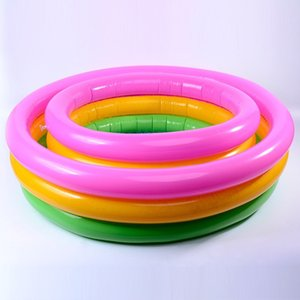 Children Inflatable PVC Swimming Pools Household Thickened Round Rainbow