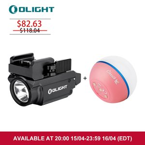 OLIGHT Baldr RL Mini Tactical Light with Red Laser Sight Bundle Obulb Pink Lamp