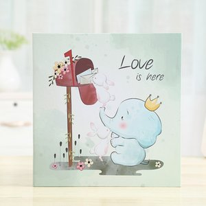 High-end Gift Handmade 16 inch 20 Pages Self Adhesive Photo Album Diy Early baby Album Lovers Wedding Book Memory Fotoalbum Foto 210330