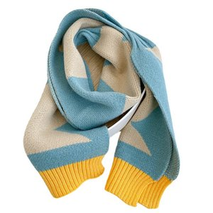 Kids Scarves Children Scarf Baby Ring Boys Girls Accessories Autumn Winter Keep Warm Knitted Wool Long Plaid Soft B8961