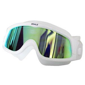 Big Frame Mirrored Clear Comfortable Silicone Glasses Waterproof Anti-Fog Lens Men Women ming Goggles Swim Eyewear