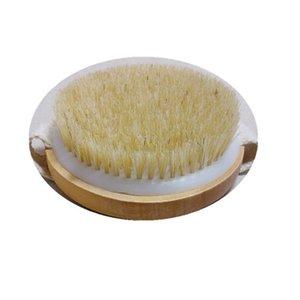 no handle Bamboo Bath Brush Dry Body Brush with Massage Nodes Round shower brush for Dry Skin Brushing CCF6416