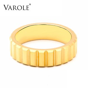 VAROLE Punk Pyramid Rings For Women Gold Color Stainless Steel Lady Finger Minimalist Ring Fashion Jewelry Dropshipping