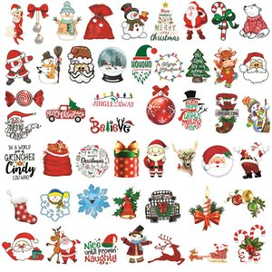 Santa Claus Snowman Elk Sticker Laptop Luggage Window Xmas Christmas Decorations for Home Natal New Year Gift GGE1773 LNI2