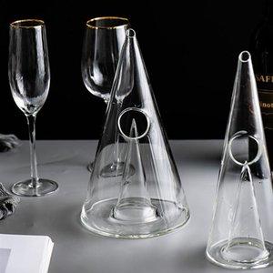 Creative Pyramid Crystal Glass Wine Decanter 350ml 750ml Crystal Red Wine Decanter Handmade for Wine Brandy Whiskey Bar Tools