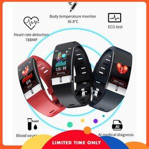 Ücretsiz MNWT Spor Akıllı İzle IP68 DIP68-Proof Üst Su Marka Lüks Monitör Kalp Hızı Bilezik IOS Için Kan Basıncı