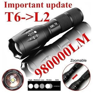 Car Headlights LED Rechargeable Cree T6 Linterna Torch 980000LM 18650 Battery Outdoor Camping Powerful