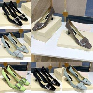 Fashion Womens Sergo Rossl temperament shoes women high heels sr sr1 leather small toe stiletto single shoe shallow mouth metal rhinest1Rcx#