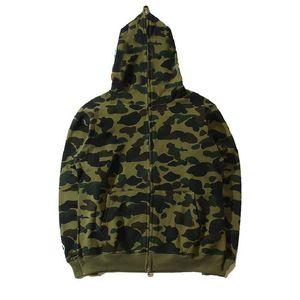 Famous designer men's sweater hoodie jacket camouflage shark head autumn and winter pure cotton season multicolor S-XXL size