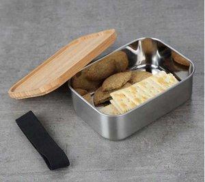 Наборы посуды 20 шт. Высокий конец безопасности Контейнер практично с крышкой Sushi Sunch Box легко чистить Bento коробки деревянные крышки