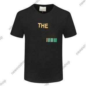 الصيف 2021 جديد مصمم رجل القمصان الملابس الزى إلكتروني الطباعة مزيج نمط اللون عارضة t-shirt المرأة الفاخرة تي شيرت اللباس تي بلايز