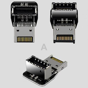 Computer Cables & Connectors Practical USB3.1 Type-E 90 Degree Angled Rust-proof Connector Driver-free Stable Transmission Motherboard Heade