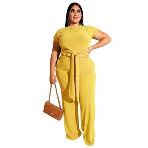 Women's Two Pants 4XL 5XL Plus Women Suit 2 Piece Sets Sexy Ladies Short Sleeve Tops Pantsuits Casual Fashion Trouser Outfits Big Size 3XL