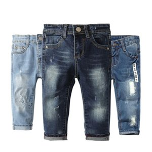 Jeans Chumhey 0-8T Top Quality Spring Kids Children Pants Baby Boys Girls Denim Trousers Infant Clothing Broken Hole Clothes
