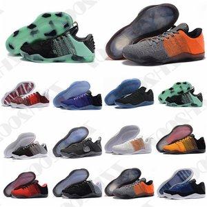 2020 Высочайшее качество Мамба 11 Элитные Мужские Ботинки Обувь Bruce Lee FTB Белый Лошадь Красный Лошадь Ахиллес Каблук 11s Черный спортивный дизайнерские кроссовки