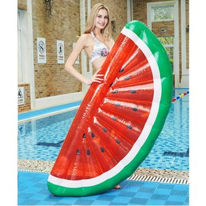 Giant Pool Float Swimming Ring Watermelon Inflatable Mattress Floating Row Circle Beach Party Floats & Tubes