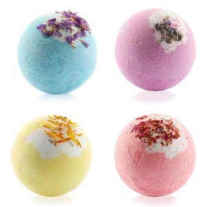 Steamers Bathing Deep Sea Salt Ball Bubble Bath Bomb with Dry Flower Explosion Natural Floral Essential Oils Bathbombs Fizzers Shower