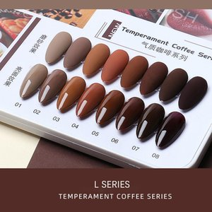 Nail Polish FN 15ml Coffee Chocolate Brown Colors Series Gel Varnish DIY Art Manicure Design Lacquer UV LED Crystal