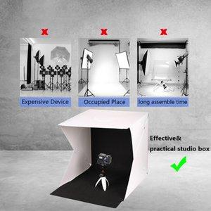 Mini Photostudio Light Stands & Booms Photo Studio Box Photography Backdrop Built-in Light Photos Boxes Little Items Photography Box Studio Accessories