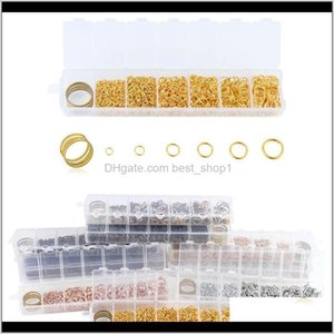 Bead Tools Arts Crafts Gifts Home Garden 10101450Pcs3 4 5 6 7 8 10Mm Gold Sier Color Open Jump Split Rings Link Loop For Diy Jewelry M