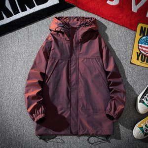 Men's Trench Coats Fashion Colorful Reflective Sports Windbreaker Jacket 2021 Spring And Autumn Plus Size Tooling Tide Brand Coat Men