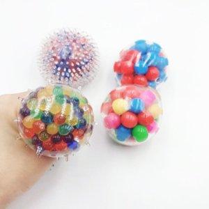 Em estoque squeeze brinquedo de bola aliviar o stress dna esqueer esferas esferas colorido grânulos nova moda mão ferramenta exercício para crianças e adultos gyq